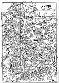 udine italy map udine town city plan italy 1953 vintage map