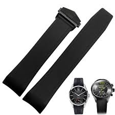 silicone strap bracelet images Tjp 22mm black silicone rubber watch strap bracelet replace tag jpg