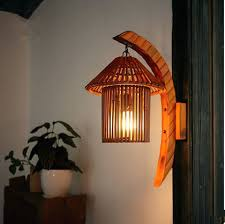 Bamboo Wall Vase Sconce Shabby Chic Wood Sconce Wall Vase Cottage Style By