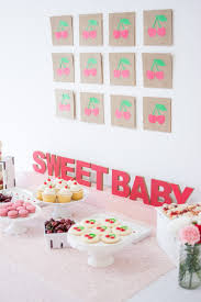 oh so sweet cherry baby shower this sweet happy life