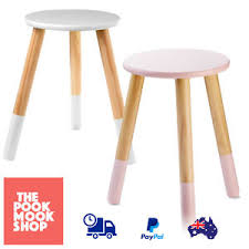 girls white bedside table dipped wooden stool pink white seat bedside table study girls