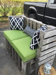 Patio Furniture Made Of Pallets by Pallets Wood Made Outdoor Bench Pallet Ideas Recycled