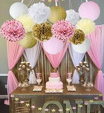 Gold And Pink Party Decorations Wcaro Mixed Pink Gold White Party Decor Kit Paper Lantern Paper