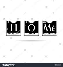 creative design home sign periodic table stock illustration