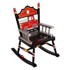 firefighter child u0027s rocking chair by levels of discovery