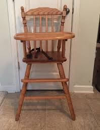 Wooden High Chair For Sale Vintage Wooden High Chair Cover Home Chair Decoration