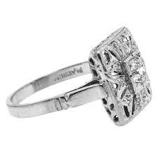 vintage square engagement rings vintage square design cut ring claude morady estate