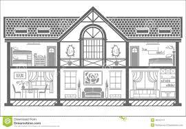 house interior silhouette vector illustration stock vector
