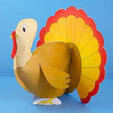 3d stuffed paper turkeys thanksgiving and craft