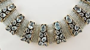 topaz stone necklace images Blue topaz choker sterling silver necklace collar kashmir fine jpg
