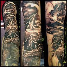 love the shading u0026 reversed out lightening on this tattoos