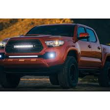 2017 tacoma light bar rigid industries 465683 tacoma bumper mount kit with 30 sr series