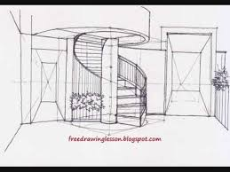 how to draw spiral staircase youtube