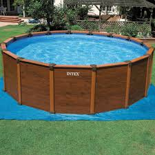 image of intex pool decks intex above ground swimming pool large