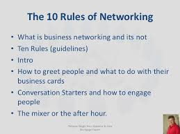 How To Do Business Cards Business Networking Slide Presentation