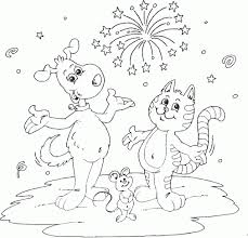 mickey mouse new years coloring pages dog and cat and mouse coloring pages printable