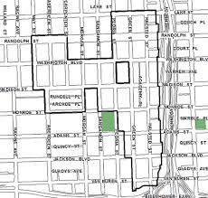 chicago housing projects map city of chicago near west tif