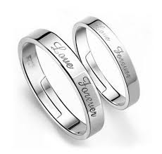 rings wedding sale images Hot sale silver color engagement rings romantic wedding ring set jpg