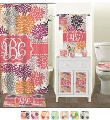 mums flower shower curtain personalized potty training concepts