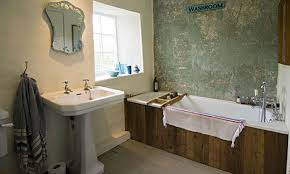 reclaimed wooden bath panel for rectangle bathtub and caddy bath