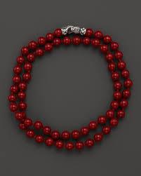 double beaded bracelet images Scott kay mens red shell double wrap beaded bracelet mm silverred jpg