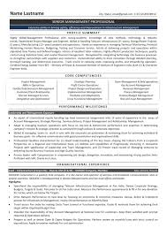 Senior Management Resume Templates Resume Formats Resume Format Infrastructure Manager Senior