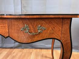 bureau style louis xv 20th century louis xv style burl wood bureau plat sold