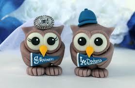 owl cake toppers sport wedding owl cake topper customizable birds baseball