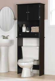Black Bathroom Mirror Cabinet Outstanding Bathroom Behind Toilet Storage Using Black Polished