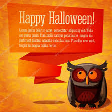cute happy halloween background happy halloween cute banner or greeting card on the craft paper
