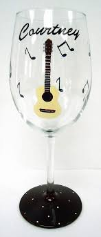 glass guitar glass personalized glass painted glass on 20 00