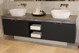 Bathroom Vanities Townsville by Egger Jackson Pine Laminate And Perfect Sense Matt Black 18mm Has