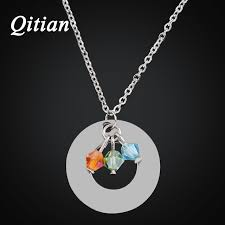 personalized necklaces for women qitian free custom engraved necklaces pendants arylic