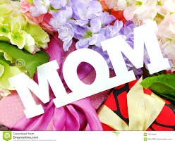 gift box and artificial flowers for mother u0027s day stock photo