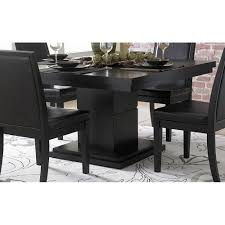 Modern Glass Square Dining Table Cicero Modern Black Square Pedestal Dining Table Surripui Net