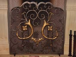 iron fireplace screens etsy stone apple fireplacescreens doors san