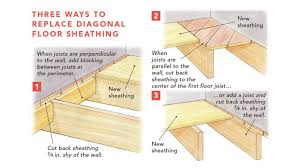 how to cut through subfloor replace damaged board floor sheathing homebuilding