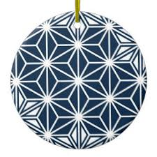 blue and white japanese ornaments keepsake ornaments zazzle