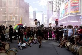 Bulk Barn Downtown Toronto Justin Trudeau Black Lives Matter Kick Off Toronto Pride Parade
