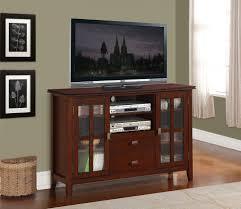 Corner Wood Tv Stands Tv Stands Tall Wood Tv Stand Simpli Home Axchol005 Artisan