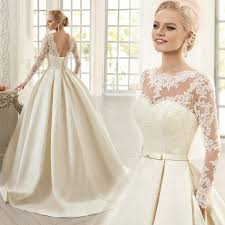 wedding gown design 2017 lace gown sweep wedding gown designs