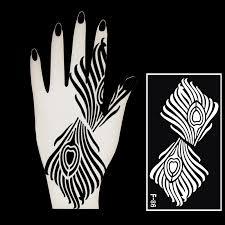 1pcs mehndi indian henna tattoo stencil lot for body paint