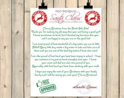 letters from santa claus santa letter santa claus letter santa stationary add your