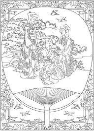 free coloring coloring japan tradition coloring