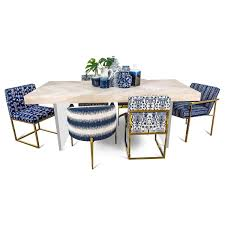 amalfi dining table with plinth lucite legs modshop