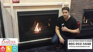 napoleon b46 large direct vent gas fireplace product review youtube