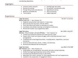 Legal Secretary Sample Resume by Cozy Design Sample Legal Resume 12 13 Amazing Law Examples Cv