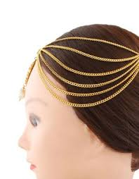 hair accessories online india buy anuradha golden finish stylish hair accessories matha