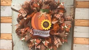 fall wreath tutorial easy easy one too youtube