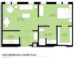 600 Sq Ft Floor Plan by Assisted Living Apartment Floorplans